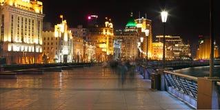 Die Promenade in Shanghai Stockfotos