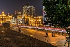 Die Promenade Shanghai Stockfotografie