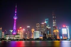 Die Promenade Shanghai Lizenzfreies Stockfoto
