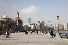 Die Promenade in Shanghai, China Stockbilder