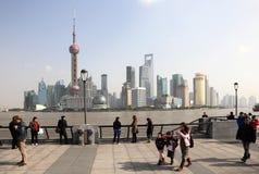 Die Promenade in Shanghai, China lizenzfreie stockbilder