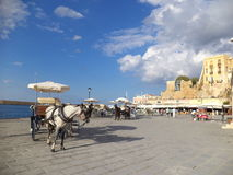 Die Promenade von Rimini Stockfoto