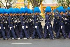 Die Prozessionswiederholung: full-dress Prozession Stockbilder