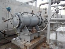 Die Pumpe für das Pumpen des Öls und der Produkte lizenzfreie stockbilder