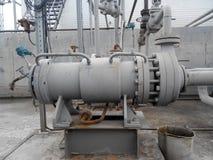 Die Pumpe für das Pumpen des Öls und der Produkte stockfotografie