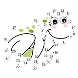 Die Punkte, der Frosch Stockfotos