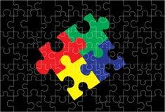 Die Puzzlespielform für sharping Abbildungen Stockbilder