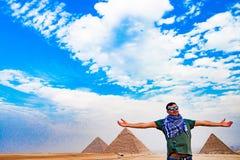 Die Pyramide in Kairo, Ägypten Lizenzfreie Stockfotos