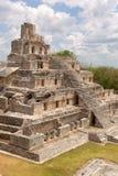 Die Pyramide mit fünf Geschossen bei Edzna Stockfotografie