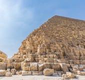 Die Pyramide von Cheops in Ägypten lizenzfreie stockfotografie