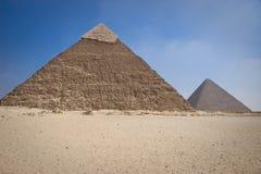 Die Pyramide von Khafrae Stockbild