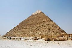 Die Pyramide von Khafres, Kairo, Ägypten - touristische Ansicht Stockfotografie