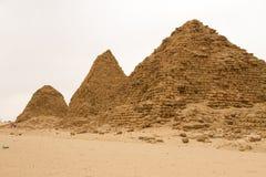 Die Pyramiden bei Nuri stockbild