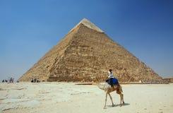 Die Pyramiden in Giza in Ägypten lizenzfreies stockfoto