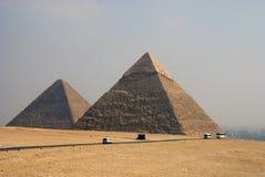 Die Pyramiden Giza Stockbild