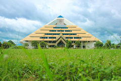 Die Pyramidenbibliothek Stockfoto