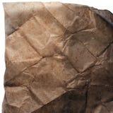 Die quadratische Beschaffenheit des alten zerknitterten Papiers Stockfotos