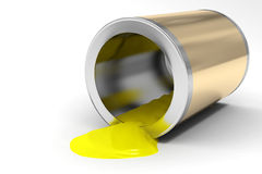 Die Querneigung des gelben Lackes Lizenzfreies Stockbild