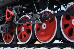 Die Räder der Lokomotive Stockbilder