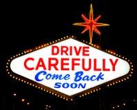 Die Rückseite des Las- Vegaszeichenmesswertes stockfoto