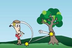 Die Rache des Golfballs Lizenzfreies Stockbild