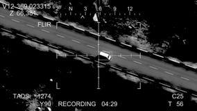 Die Rakete schlägt das Auto stock video footage