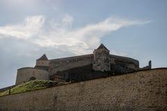 Die Rasnov-Festung, Rumänien lizenzfreies stockbild