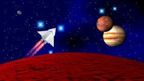 Die Raumfähre stockbild