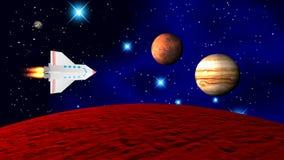 Die Raumfähre lizenzfreie stockfotos