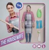 Die realistische Puppe der Hausfrau lizenzfreie stockbilder
