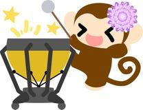 Die recht kleinen Affen Stockfoto