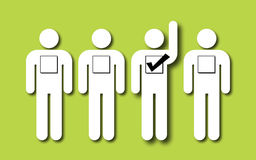 Wählen der rechten Person Stockfoto