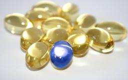 Die rechte Pille stockbild