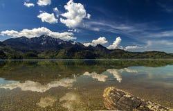 Die Reflexion auf dem See Stockbild