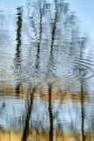 Die Reflexion der Gebäude und der Stadt im Wasser Stockbilder