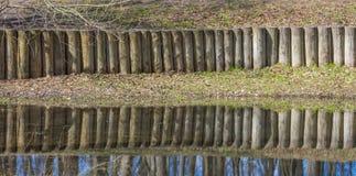 Die Reflexion im Teich Lizenzfreies Stockfoto