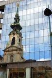Die Reflexionsansicht der Kirche Lizenzfreies Stockfoto