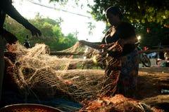 Die Regelung der Fischer in Thailand Lizenzfreies Stockbild