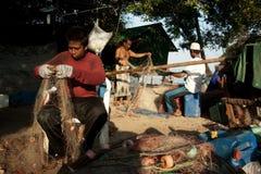 Die Regelung der Fischer in Thailand Stockbild