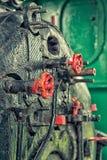 Die Regelventile der Dampfmaschine lizenzfreies stockfoto