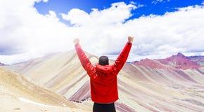 Die Regenbogenberge von Peru lizenzfreie stockbilder