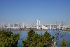 Die Regenbogenbrücke in Tokyo, Japan Stockbild