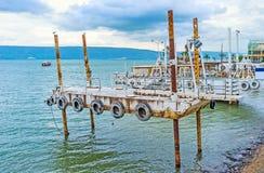 Die Reihe von Werften Stockfotografie
