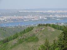 die Reise nach Russland sibirien krasnoyarsk Sommer stockfotos