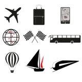Die Reisendikonen Lizenzfreie Stockfotos