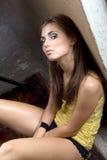 Die reizvolle junge Schönheitsfrau Stockfotos