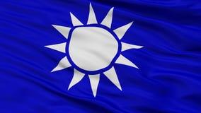 Die Republik China Marine-Jack Flag Closeup View lizenzfreie abbildung