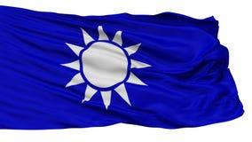 Die Republik China Marine-Jack Flag, lokalisiert auf Weiß lizenzfreie abbildung