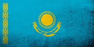 Die Republik- Kasachstanstaatsflagge Kann als Postkarte verwendet werden vektor abbildung