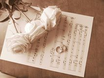 Die Retro- Heirat stieg Lizenzfreie Stockbilder